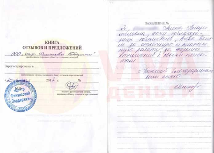 Отзыв ОО Невинномысск VIVA Деньги от Алены Ш.